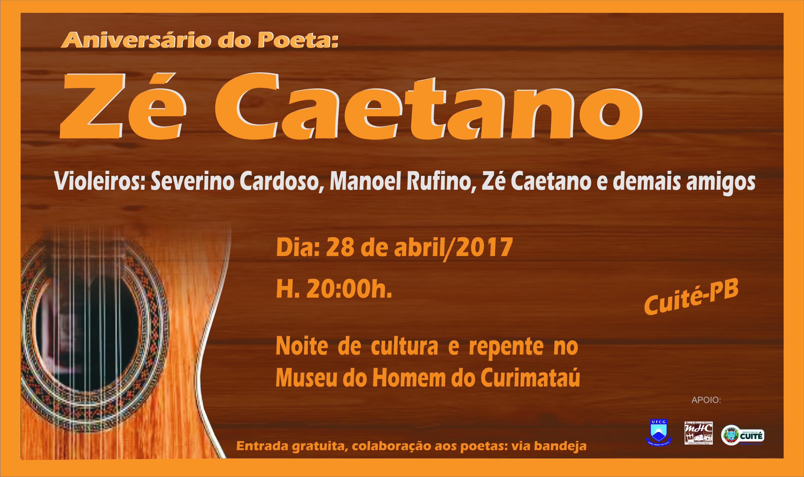 Aniversário de Zé Caetano no MHC