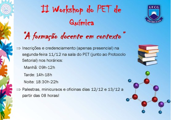 II Workshop do PET de Química do CES/UFCG